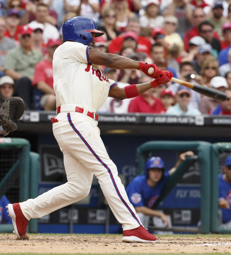 Jimmy Rollins wearing Air Jordan XIII 13 PE Cleats (1)