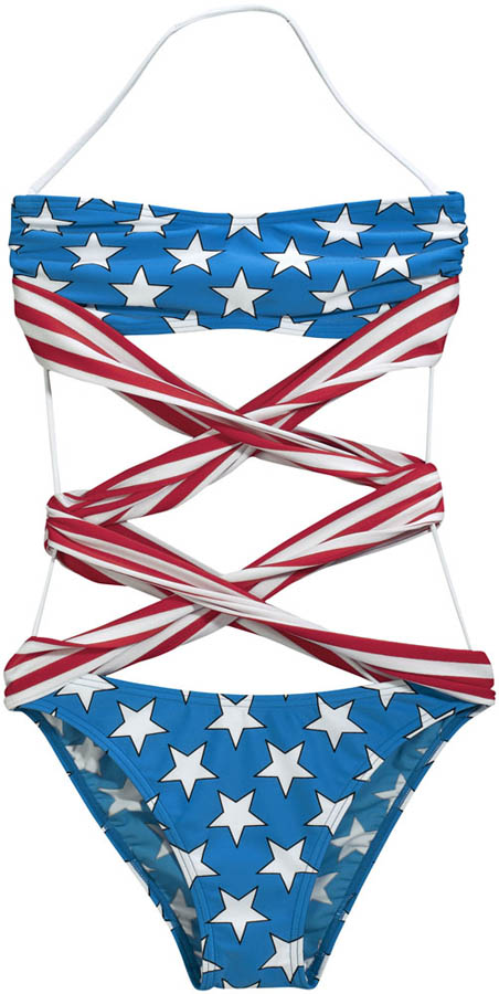 adidas Originals by Jeremy Scott - Spring/Summer 2012 - JS Flag Swimsuit X30165