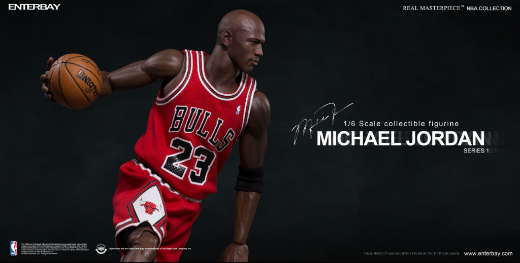 NBA x Enterbay Michael Jordan 1/6 Scale 'Away' Figure (5)