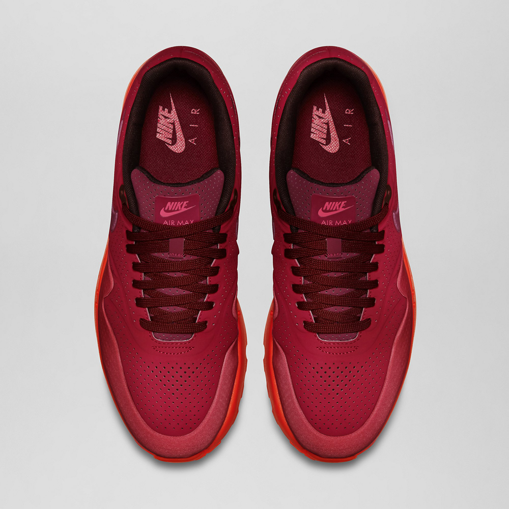 womens nike air max 1 all red