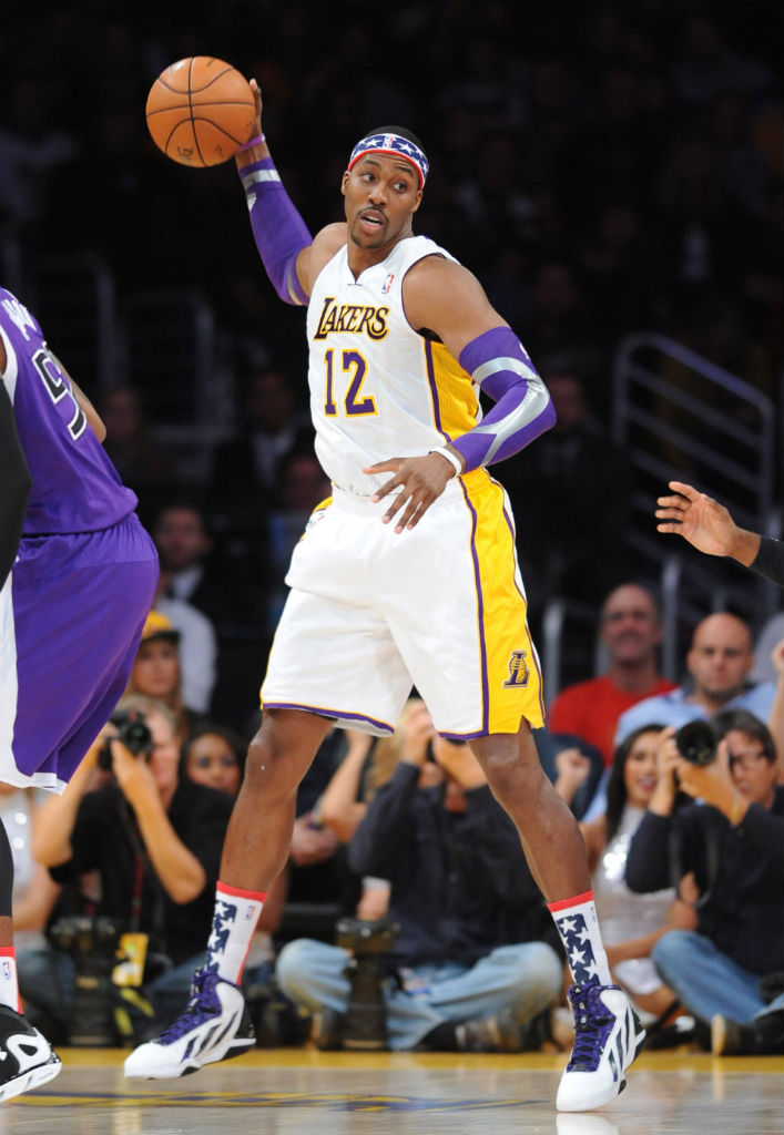 Dwight Howard wearing adidas adipower Howard 3
