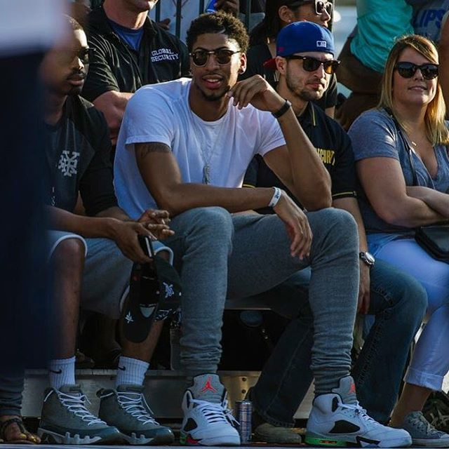 97e62a5302093b ... coupon anthony davis wearing the prostars air jordan 5 f632c 479e1