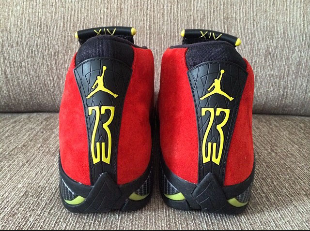 Air Jordan 14 XIV Red Suede (3)