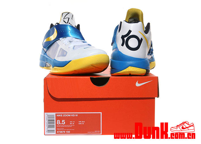 promo code 418cc 3a727 Nike Zoom KD IV White Tour Yellow Photo Blue Navy 473679-102 (6)