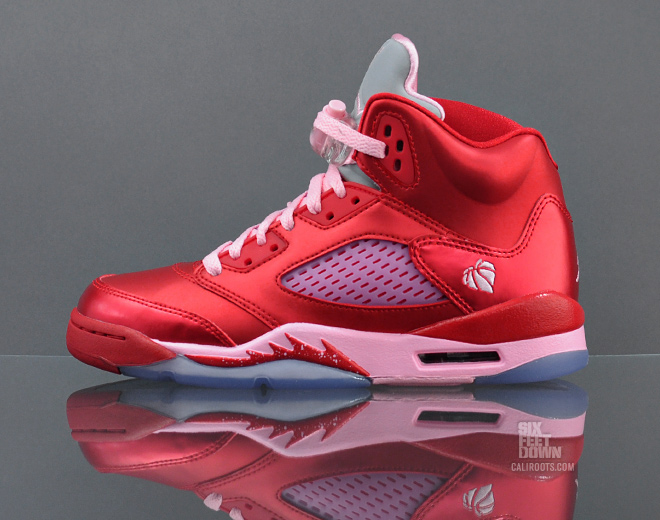 Air Jordan 5 Retro GS Valentines Day Available Sole