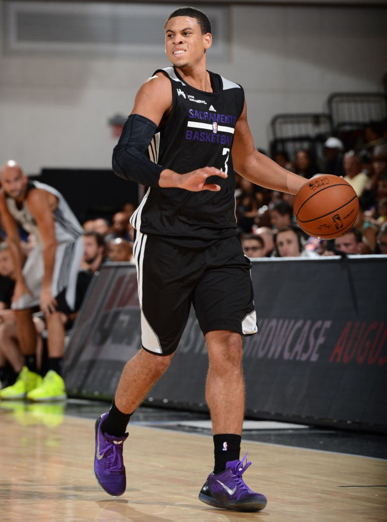 Ray McCallum wearing Nike Kobe IX 9 Elite Low Michael Jackson
