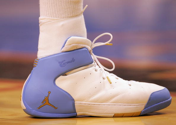 Carmelo Anthony wearing Jordan Melo 1.5 Nuggets Home (2)