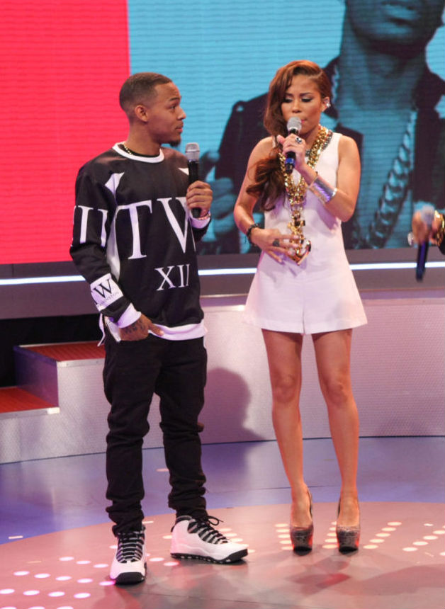 Bow Wow wearing Air Jordan 10 X Retro Steel