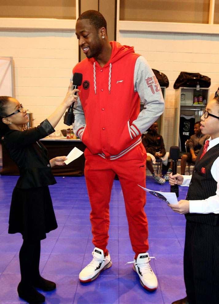Dwyane Wade wearing Li-Ning Way of Wade 2 Overtown