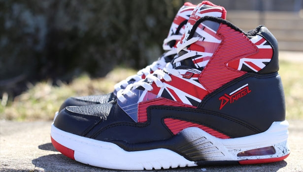 British Knights DRX Union Hi Black/White-Mars Red
