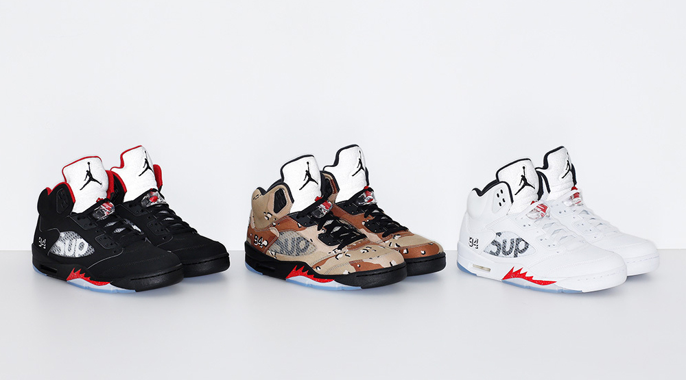 sports shoes d6a82 4b71b Supreme's Air Jordan 5s Release Tomorrow | Sole Collector