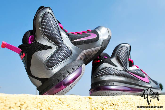 huge discount b8e5a a7829 Nike LeBron 9 IX Miami Nights Cool Grey Vivid Grey Black Cherry 469764-002 B