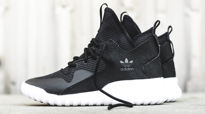 Adidas Tubular Defiant Sneakers in Black Glue Store