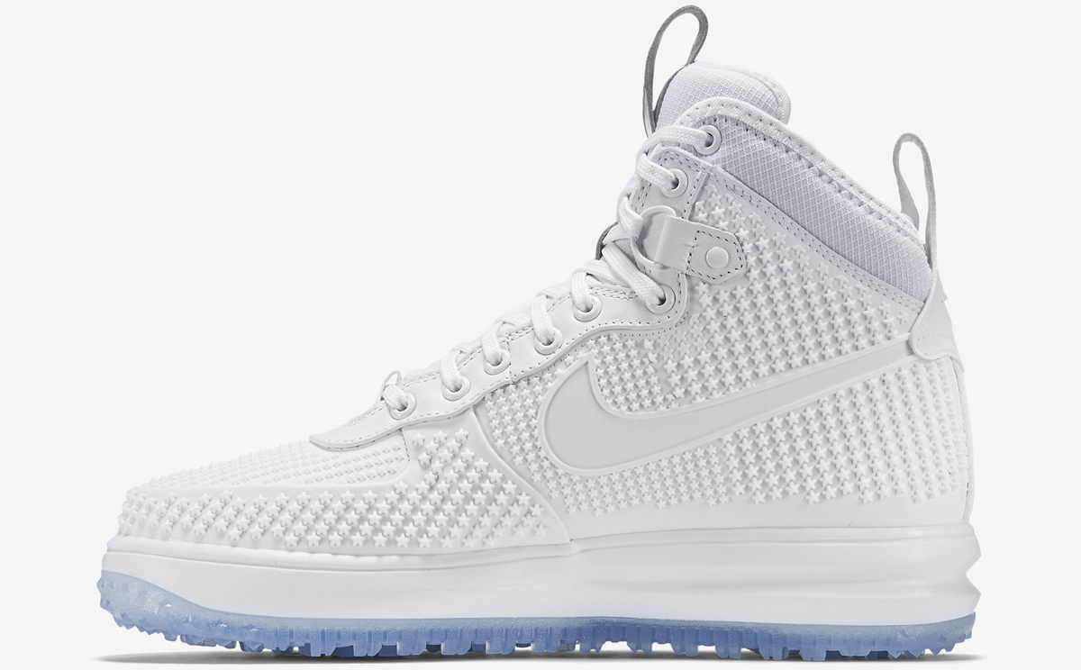 huge discount f2a09 331c4 Nike Lunar Force 1 Duckboot Release Date  11 30 15. Color  White Anthracite  White Style    806402-100. Price   200