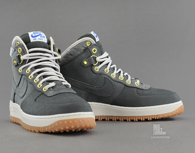 Nike Air Force 1 Duckboot in Anthracite