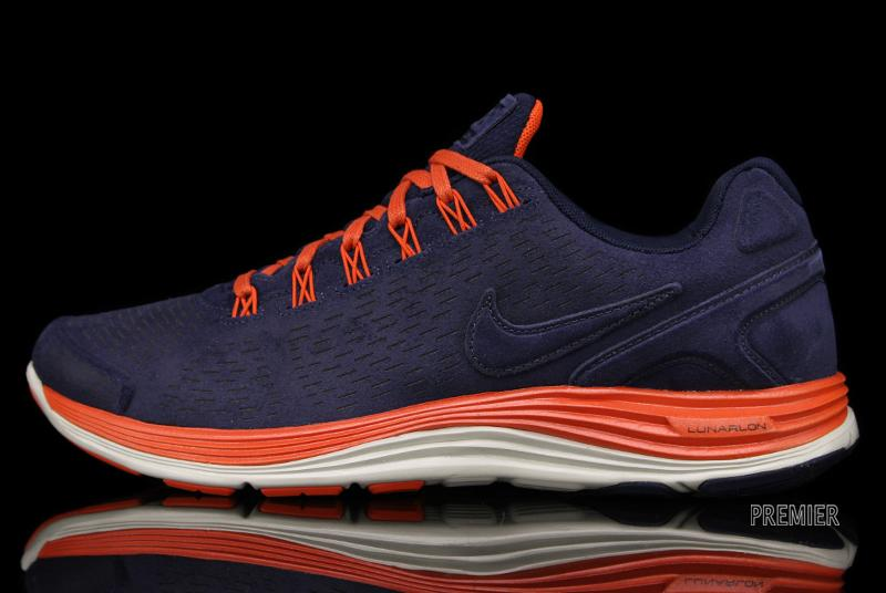 4f51501059 The Nike LunarGlide+ 4 EXT in Obsidian / Team Orange is available now at  Nike Sportswear retailers, including online at Premier.