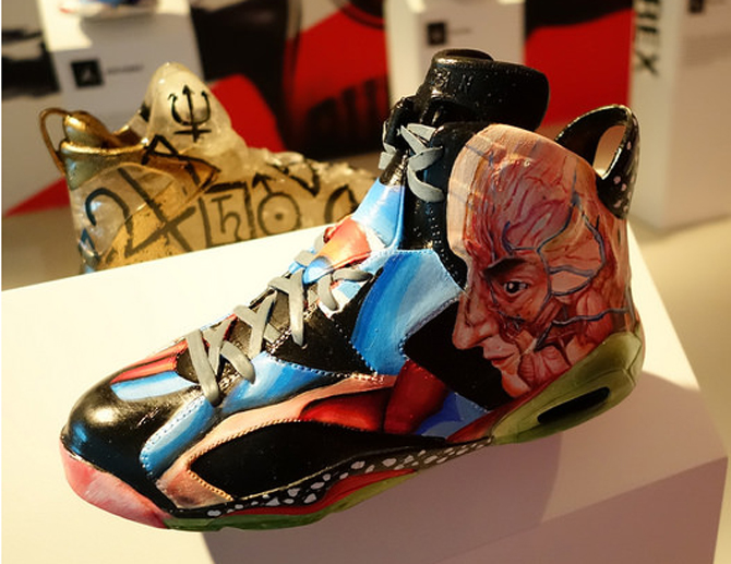uk availability a5c1c ca916 Air Jordan 6 Customs on Display at the