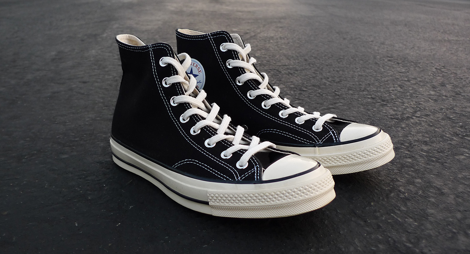 ba9da5759a663a The Converse 1970s Chuck Taylor All Star in Black   White will release at  First String accounts on Friday