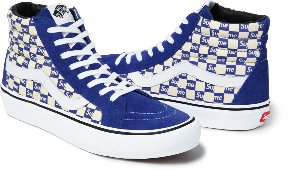 supreme vans checkerboard sole collector