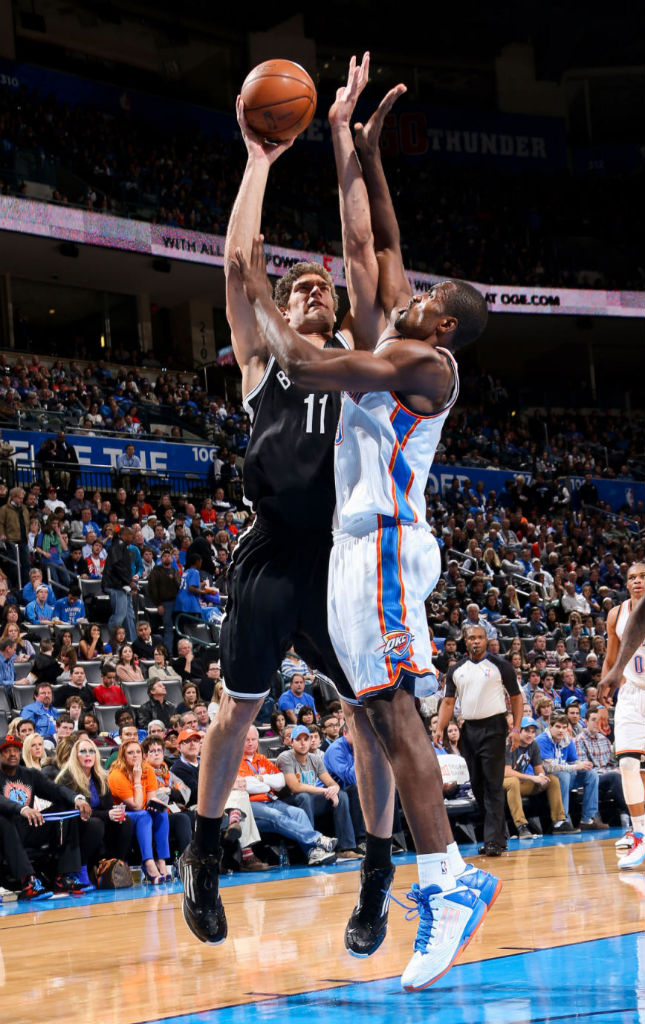 Serge Ibaka & Brook Lopez wearing adidas adizero Ghost 2