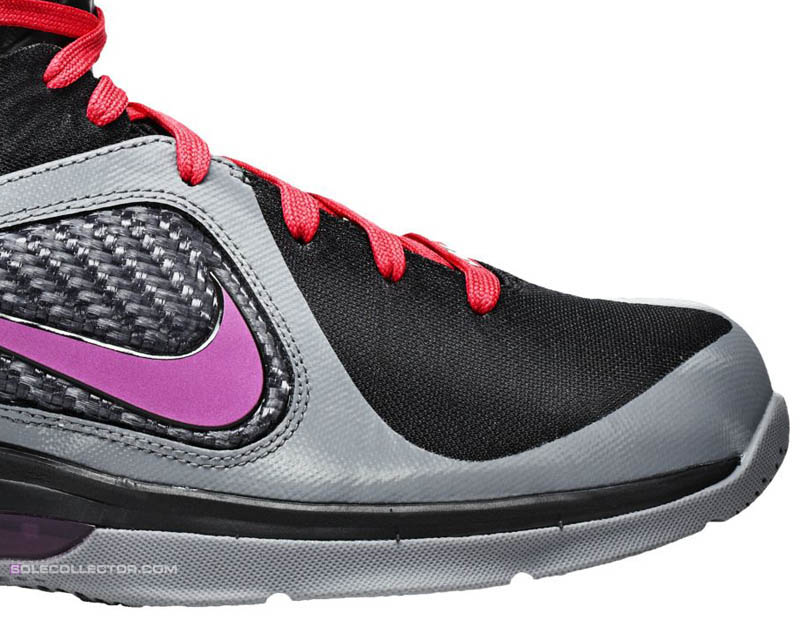 official photos 7c87f b2205 Nike LeBron 9 Miami Nights Cool Grey Vivid Grey Black Cherry 469764-002 E