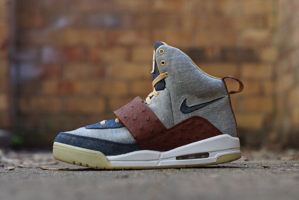 Nike Air Yeezy 'Ostrich + Denim' by JBF Customs (1)