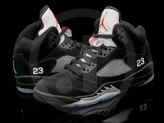 black jordan retro 5