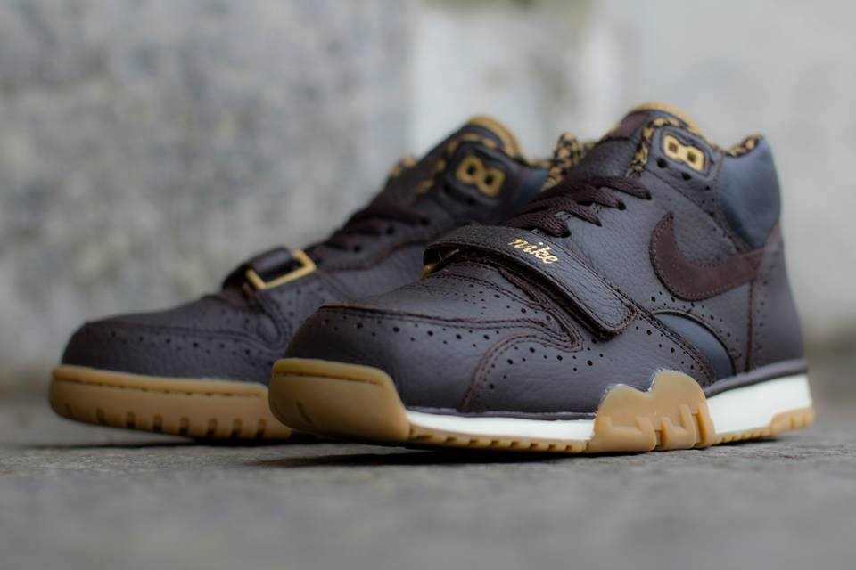 Nike Air Trainer 1 Mid Premium QS Brogue in Velvet Brown