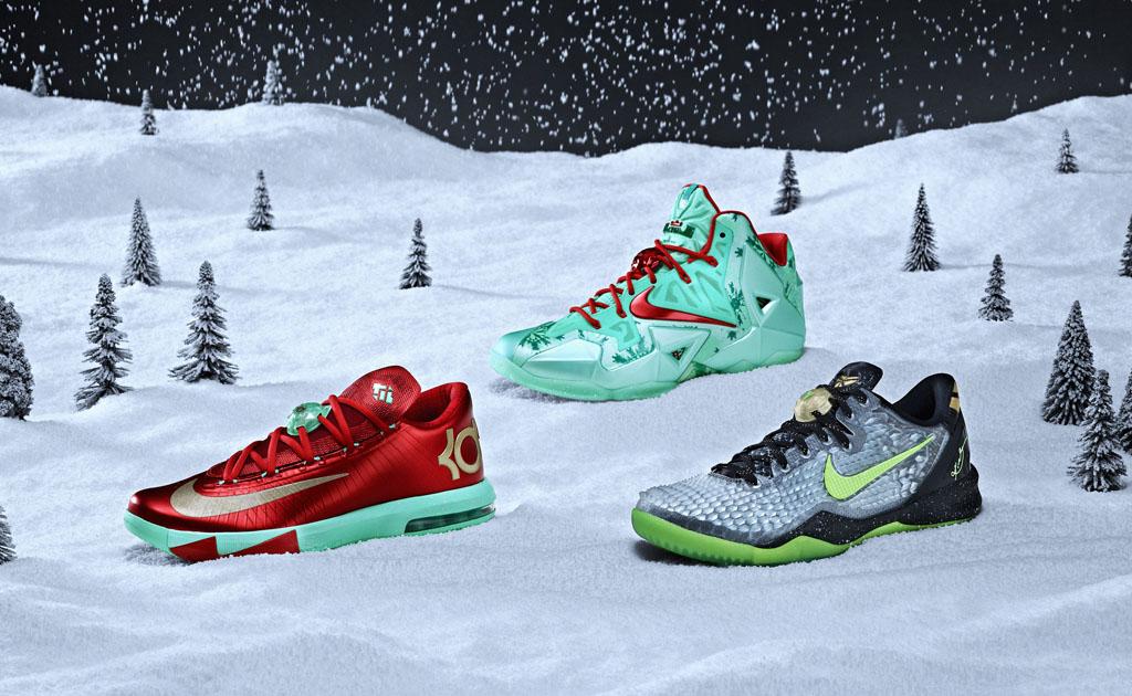Nike Basketball 2013 Christmas Pack // LeBron 11, Kobe 8 System & KD ...
