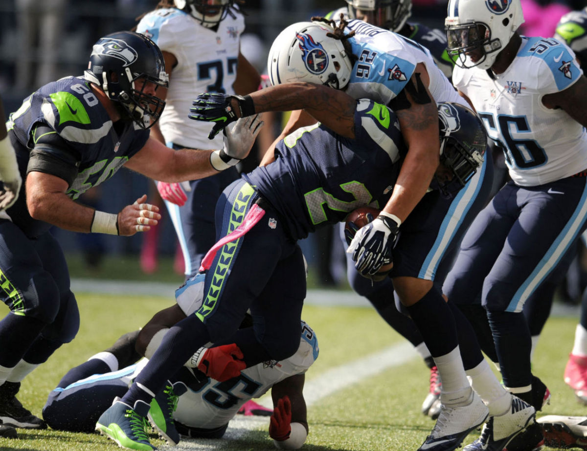 Marshawn Lynch Wears Air Jordan 12 XII PE Cleats (8)