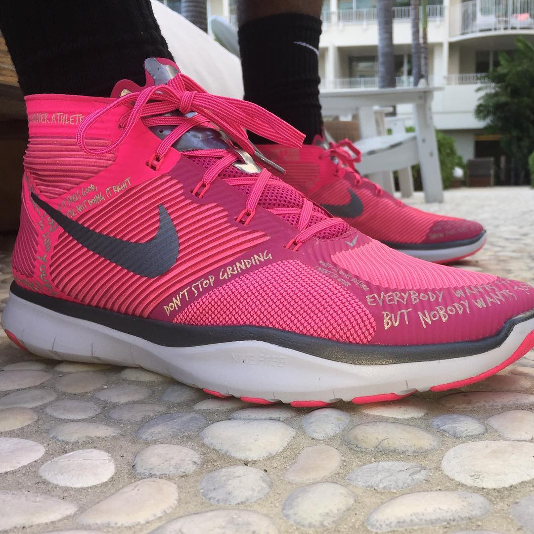 Nike Hustle Hart Pink Breast Cancer Awareness Shoes