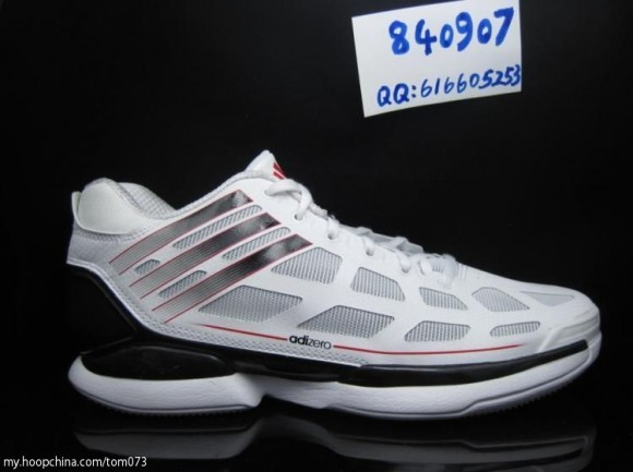 new products e3b19 ef606 adidas adiZero Crazy Light Low White Black Light Scarlet G49698