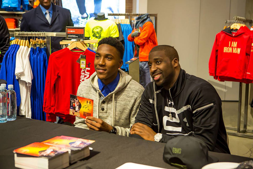 Raymond Felton Visits Under Armour Campus & Brandhouse (13)