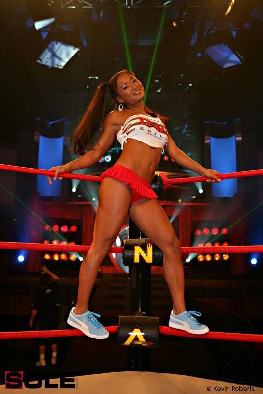 Gail Kim wearing the PUMA Suede