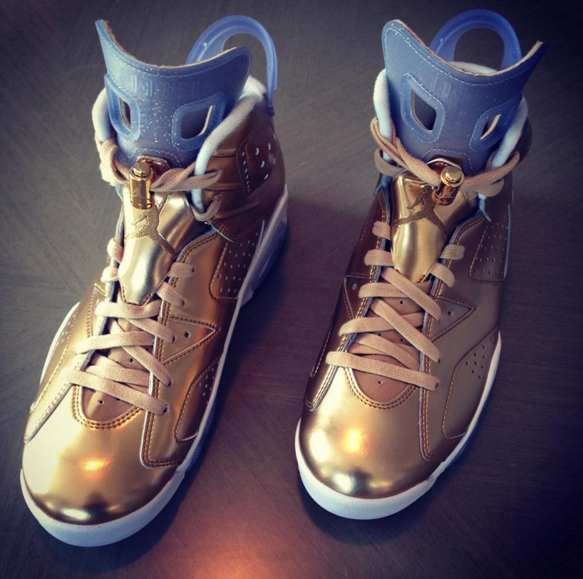 newest 1ebf3 d0fe9 Gold Air Jordan 6 Oscar Spike Lee