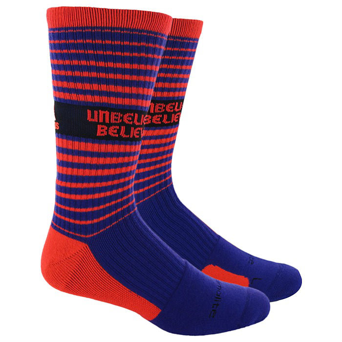 adidas Team Speed Crew Socks RG3 Inspire Collection - Unbelievably Believable - Blast Purple Infrared  Q31319