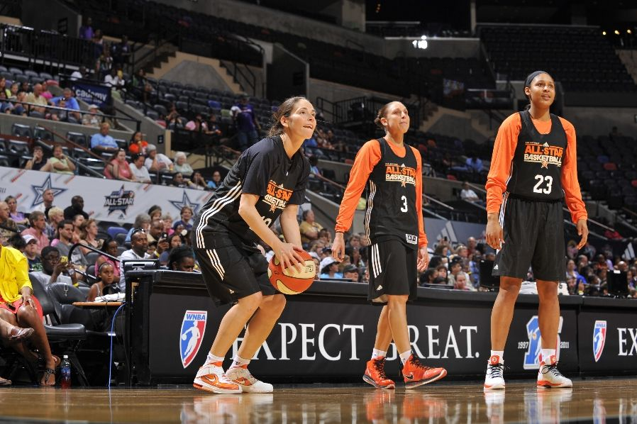 Sue Bird wearing Nike Air Max Soldier V