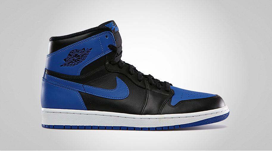 factory outlet 2018 sneakers order online Air Jordan Retro 1 High OG - Black / Varsity Royal ...