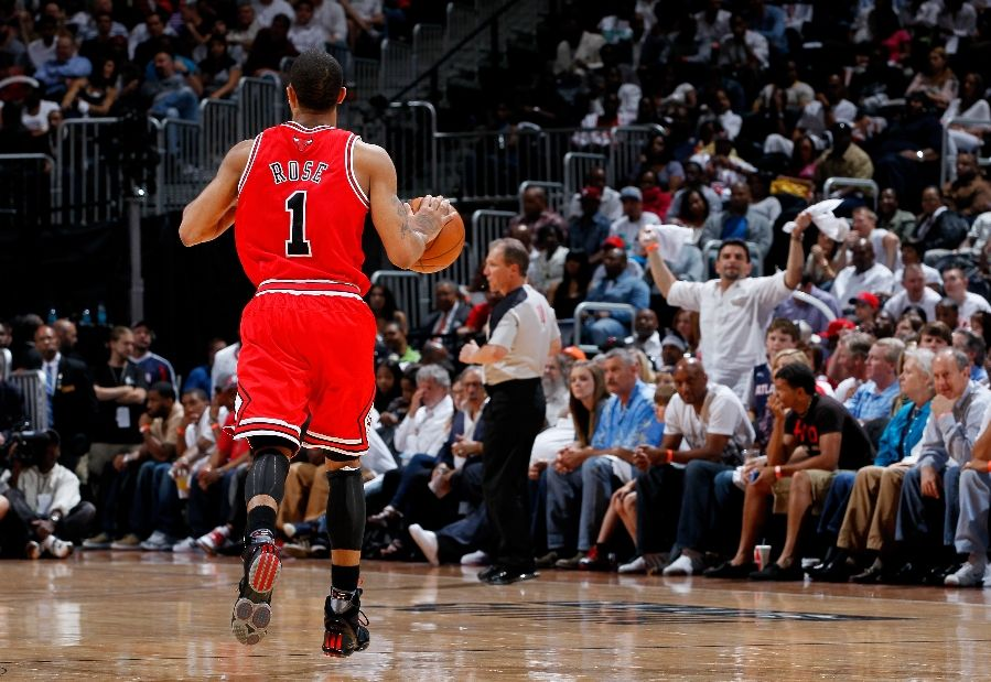 Derrick Rose wearing the adidas adiZero Rose 1.5