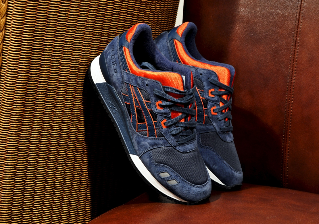 cheap for discount bb997 fb910 ASICS Gel Lyte III - Navy / Orange | Sole Collector