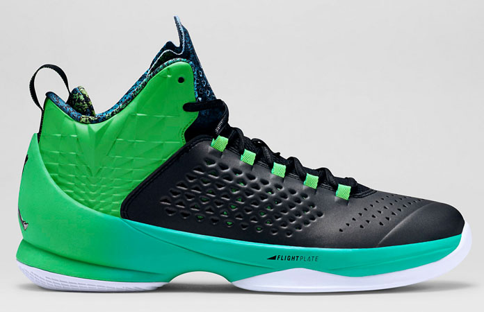 Jordan Melo M11 Black/Light Green Spark-Retro Release Date 717101-008