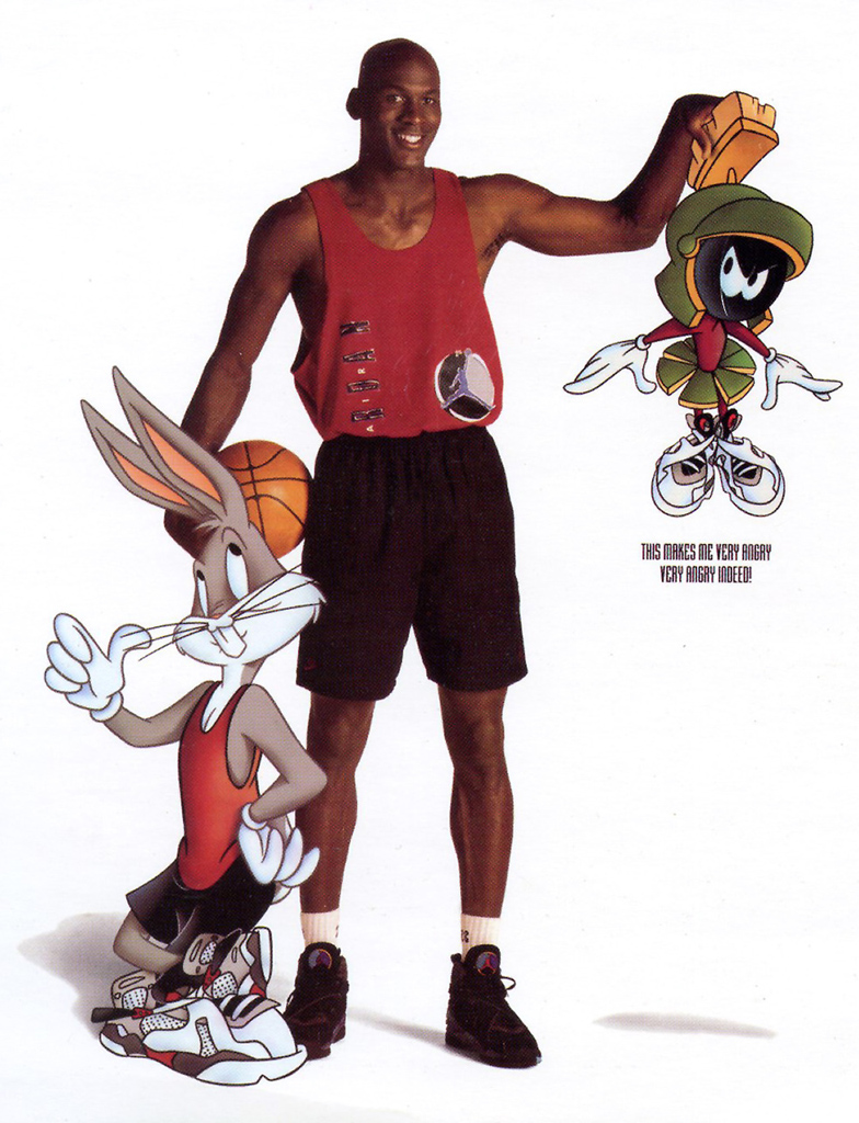 7cf27cd8669718 Michael Jordan  Marvin the Martian  Nike Air Jordan Poster (1993)