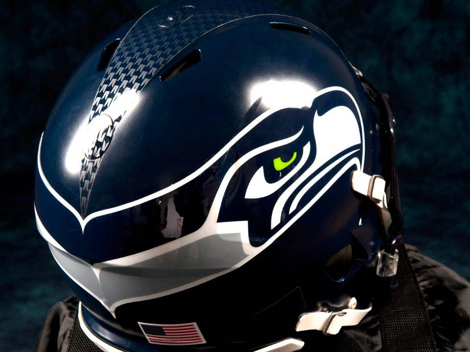 Carbon Fiber Motorcycle Helmet >> Nike Unveils New Seattle Seahawks Football Uniforms | Sole Collector