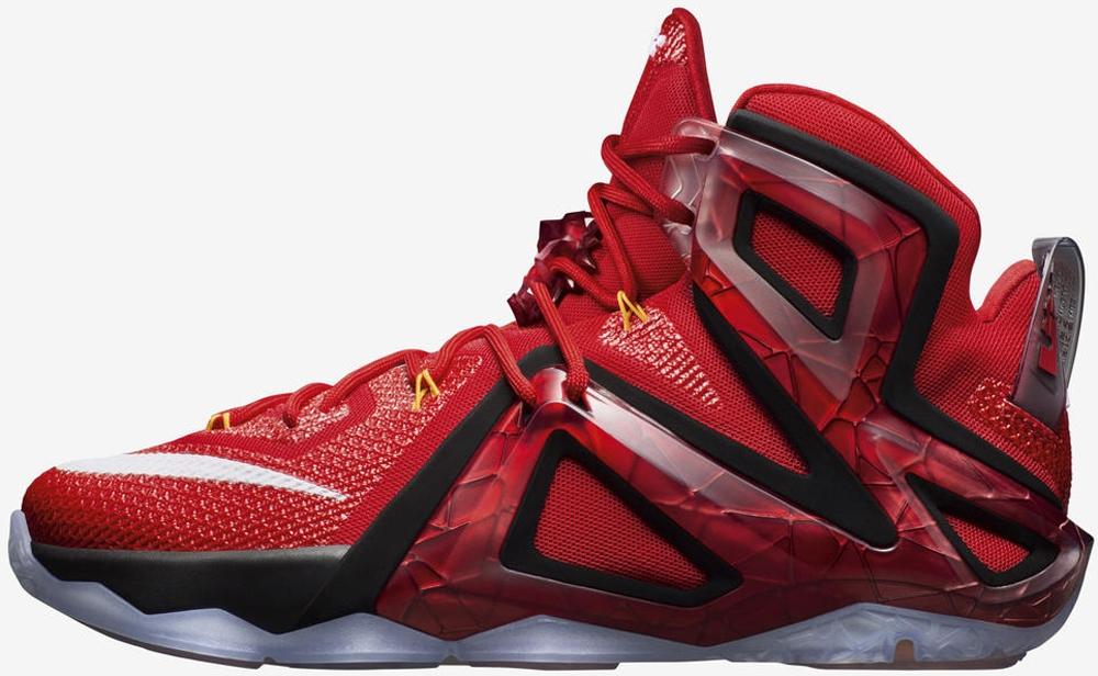 Nike LeBron 12 Elite University Red/Bright Citrus-Bright Crimson-White-Black