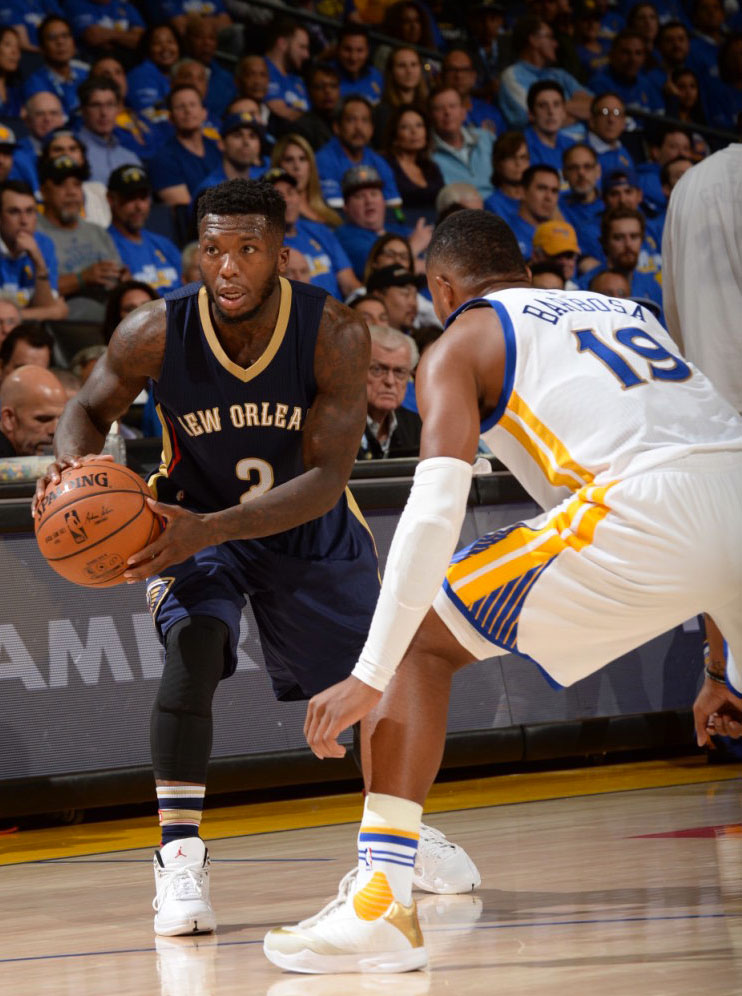 Nate Robinson wearing the 'Rising Sun' Air Jordan 12 (3)