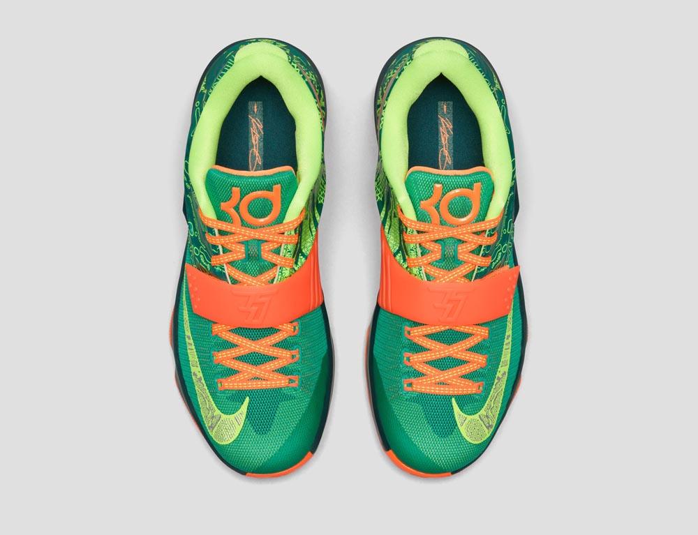 nike kd 7 orange green