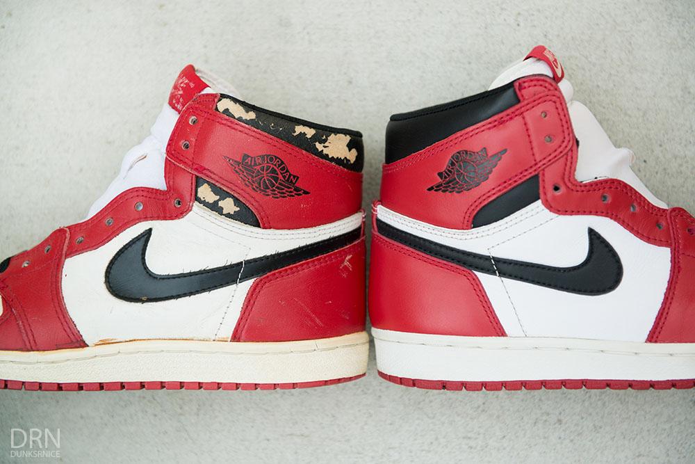 Air Jordan I 1 Chicago Bulls Comparison 1985 1994 2013 2015 Retro (3) 171fe6d25