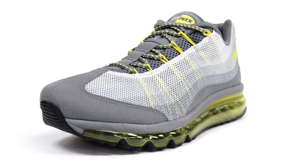 Air Max 95 2013 Dynamic Flywire Cool Grey Sonic Yellow
