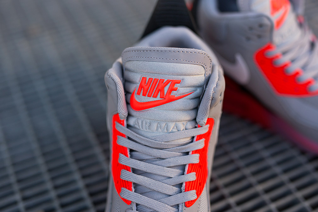 info for 1c2ea 57568 The Nike Air Max  90 Ice Sneakerboot in wolf grey and infrared is available  now at select Nike Sportswear retailers overseas such as Suppa and is set  to ...