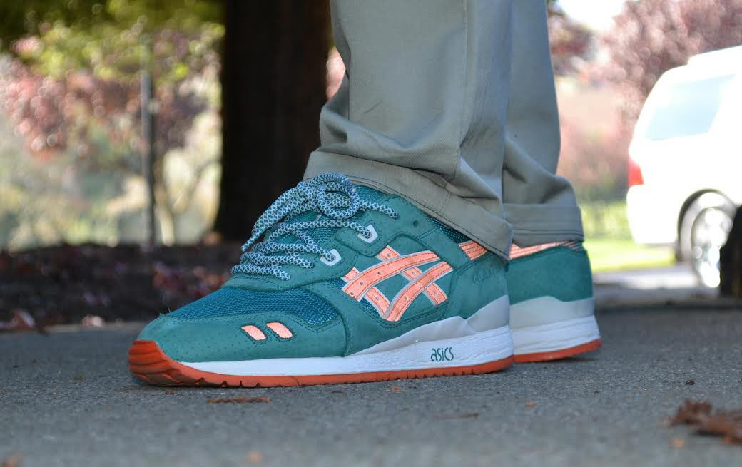 BIGGDJ in the Ronnie Fieg x ASICS GEL-Lyte III Dolphins